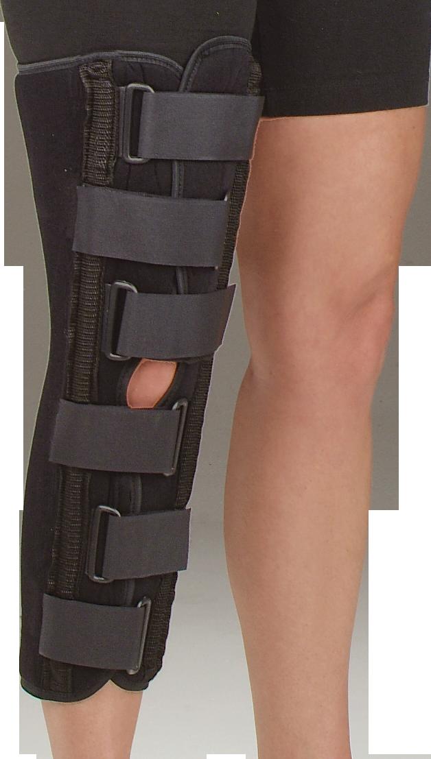39a196fa28 Sized Black Foam Knee Immobilizer